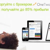 Торговля бинарными опционами на официальном сайте компании OneTwoTrade